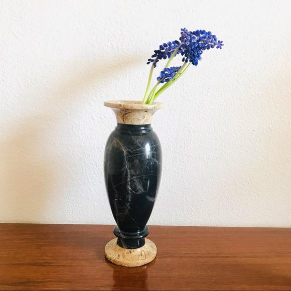 Boho chic Vintage large marble stone vase